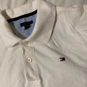 White Tommy Hilfiger back to school shirt!
